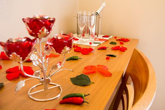 Decoração especial da noite romântica